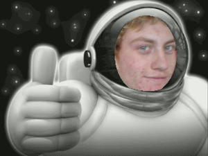 Nicks first visit to outer space - UPLOADED BY Paul Bill