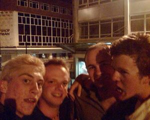 This night out in Swansea was hillarious - I remember Mike tripping over a park bench and then we all jumped on top of some phone boxes! - UPLOADED BY Nick Shepherd